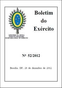 Boletim do Exército 52-2012