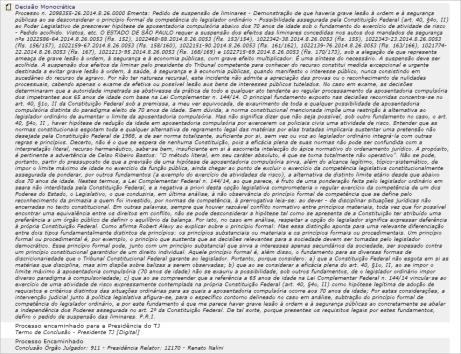 Processo n 2098355-26 2014 8 26.0000 Ementa