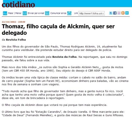 Thomaz Alckmin folha