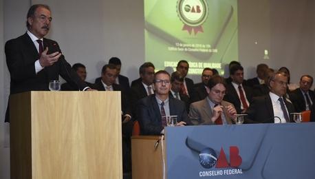 Aloizio Mercadante Mercadante acompanhou a entrega do prêmio e disse que ele oferece um critério a mais para o estudante escolher uma faculdade João Neto/MEC